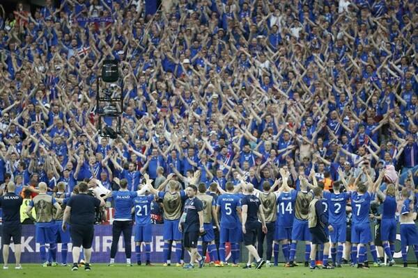 強豪国が順当にベスト16入りした一方で、初出場のアイスランド(写真)、44年ぶりに出場したハンガリーなど伏兵が大躍進