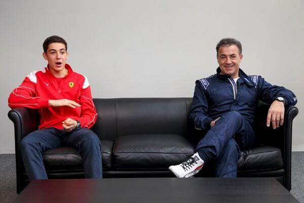 ジャン・アレジ(右)と息子のジュリアーノ