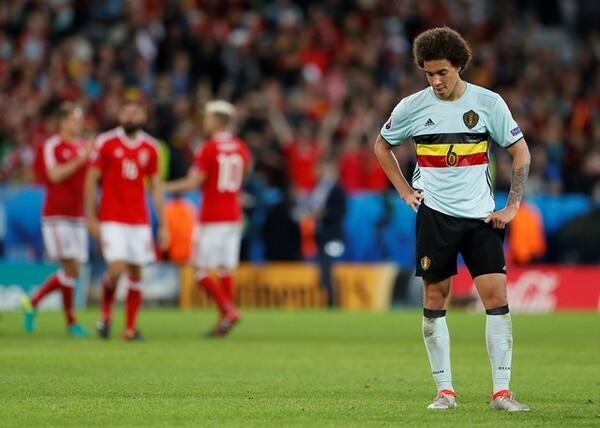 ベルギーは準々決勝でウェールズ相手に1−3と完敗し、ベスト8で散った