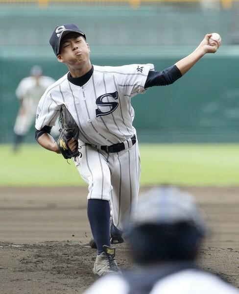 2年連続夏の甲子園出場を果たした広島新庄・堀。三振の奪えるサウスポー