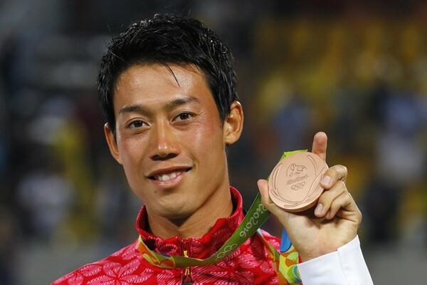 自身3度目の五輪出場にしてついにメダルを獲得した錦織
