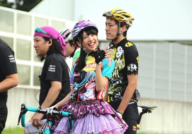 「第5回 GSR CUP CYCLE RACE」にゲスト参加した真山さん