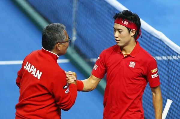錦織圭(右)率いる日本がワールドグループ入れ替え戦に挑む