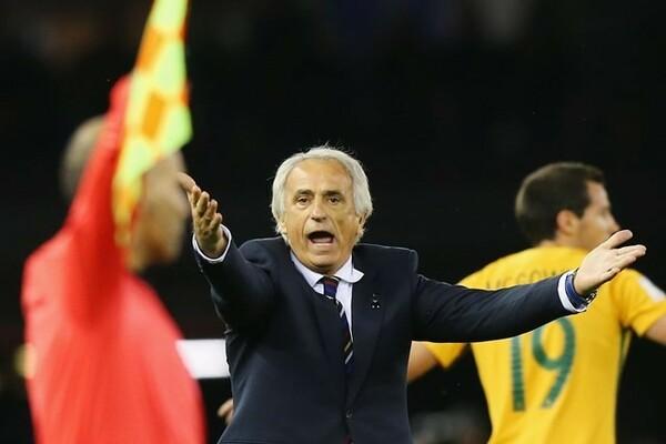 「今日の本田には満足している」とオーストラリア戦を振り返ってコメントしたハリルホジッチ監督