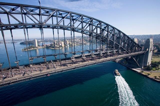 シドニーマラソンのコースのメインとなるのはなんといってもハーバーブリッジ。
