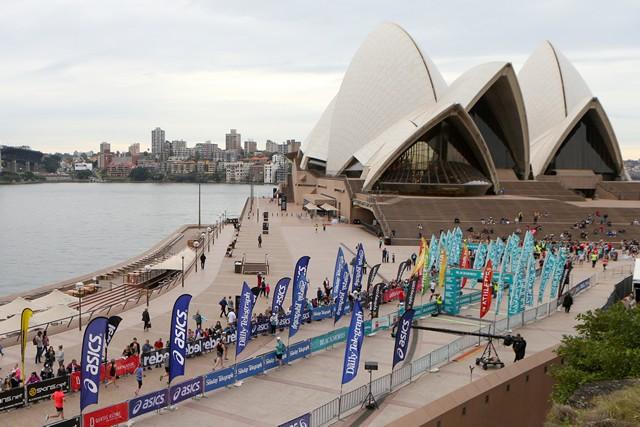 ゴールはシドニーの観光名所として有名なオペラハウス。Photographed by Jason McCawley