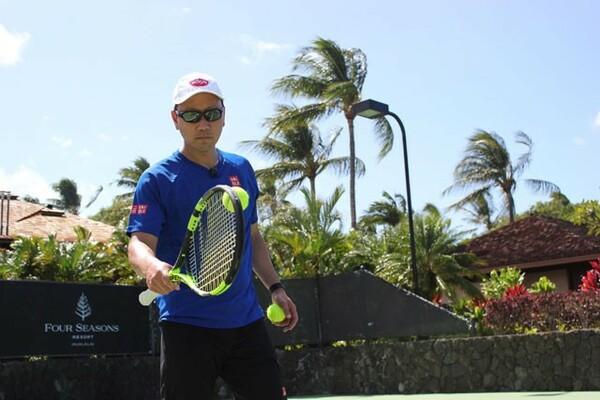 錦織圭を指導するマイケル・チャンコーチ。現役時代から熱いものを持っており、頭を使ったテニスを展開している