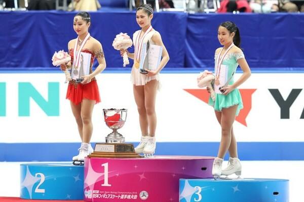 日本女子は宮原(中央)が欠場するなか、樋口(左)や三原がどう上位に食い込むかが注目される