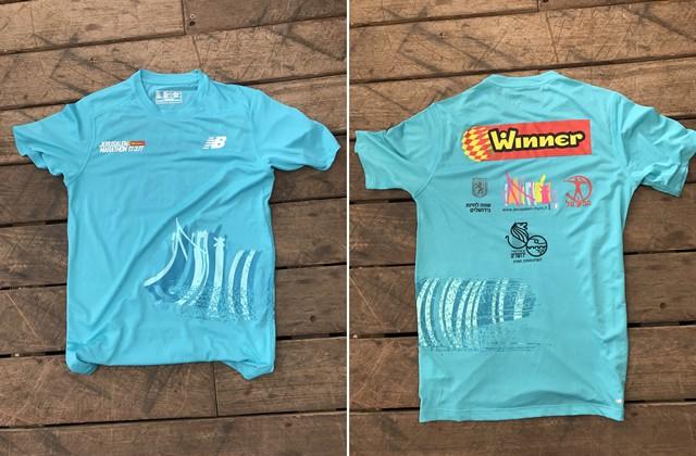 参加Tシャツはニューバランス社製の吸汗速乾タイプ。レース本番での着用率が非常に高かった。