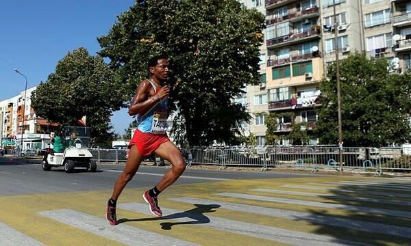 ハーフマラソン世界記録保持者のゼルセナイ・タデッセは、テストランでも好走を見せた