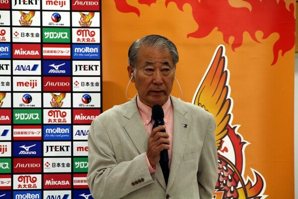 新チームへの期待を語った木村会長