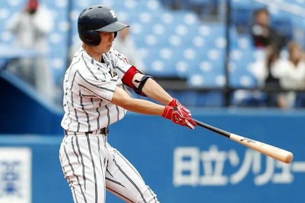 国際武道大打線では6番・磯網が打率5割超と当たっている