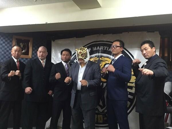 6人タッグマッチに出場する青木篤志、小笠原和彦、タカ・クノウ、松本崇寿、倉島信行