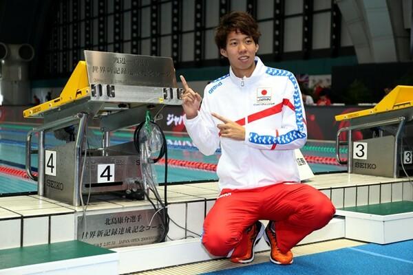 ジャパンオープンでは、世界記録を記念してプレート授与式も行われた