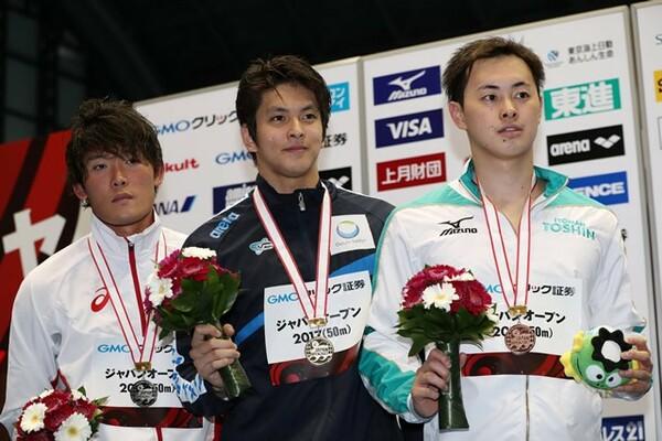 フリーリレー代表として今大会の出場権を獲得。昨年12月の世界短水路選手権で日本記録を更新した50メートル背泳ぎにもエントリーされた