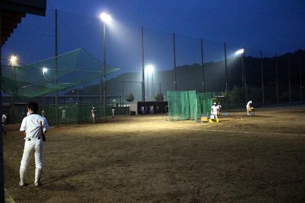 今年の全日本大学野球選手権で四国大学野球連盟で12年ぶりに白星をもたらした四国学院大野球部のグラウンド