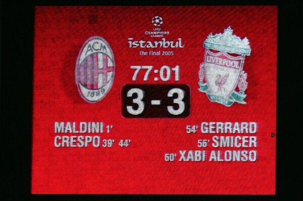 CL決勝にはもうひとつ「奇跡」と呼ばれる試合がある。「イスタンブールの奇跡」だ