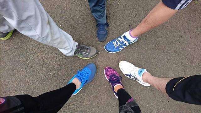 シューズやウェアーを揃えて、リレーマラソン完走に向けて、練習スタート!
