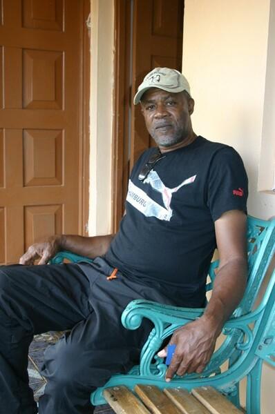 ボルトの父ウェズリー・ボルトさん(2012年3月撮影)