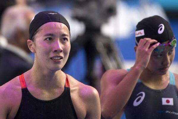 大橋(左)と今井は『いつも通り』の泳ぎをしたからこそ、結果が付いてきた