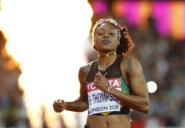リオ五輪女子100金のトンプソンは、メダルに届かなかった