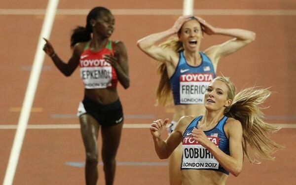 女子3000m障害のフレリックス(後方右)の銀メダルは、世界の記者も驚きだった