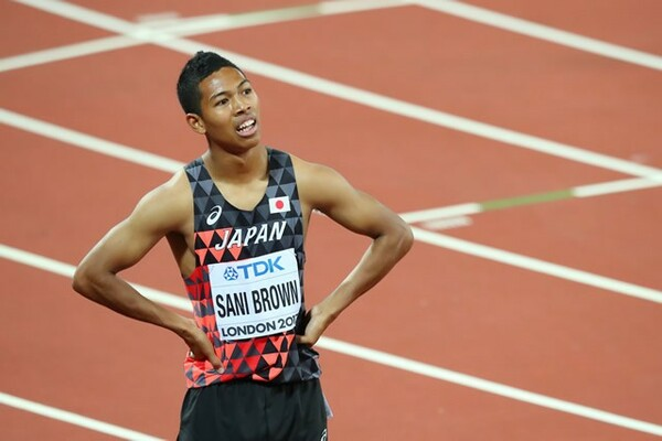 サニブラウンは男子100メートルで準決勝、同200で決勝進出。今大会の話題の中心となった