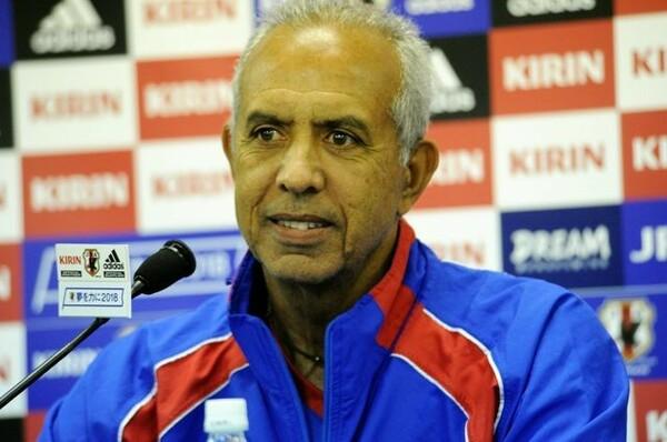 ハイチ代表のマルク・コラ監督は「明日の試合は誇りをもって勇敢に戦いたい」と意気込みを語った