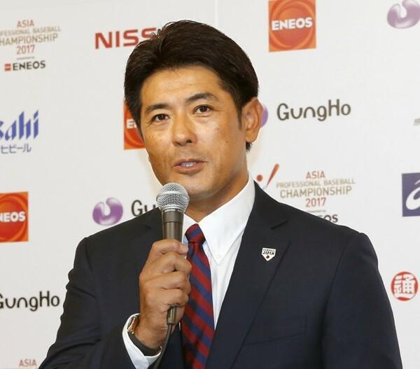 10月12日、「ENEOS アジア プロ野球チャンピオンシップ2017」のメンバー発表を行った稲葉篤紀監督