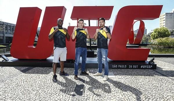 ブラジル・サンパウロ大会に出場する(左から)デレク・ブランソン、デミアン・マイア、リョート・マチダ