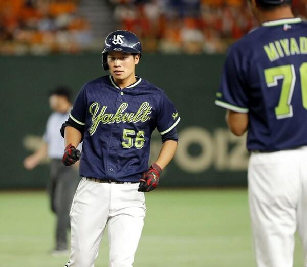 17年7月11日、古巣の巨人戦で菅野からプロ初安打を放った奥村