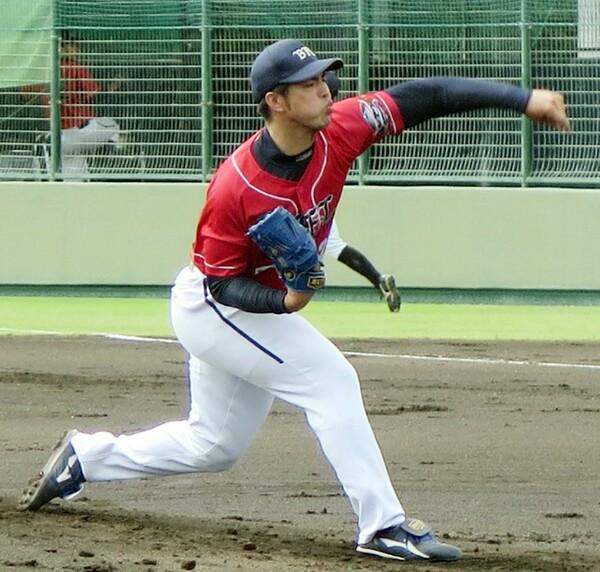 10月に阪神2軍との練習試合でマウンドに上った井川
