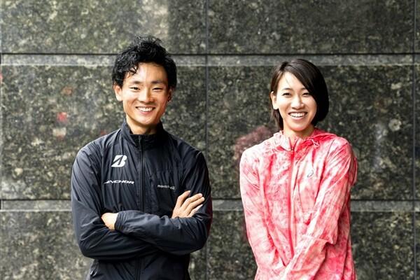 初山翔(左)と福島千里。同じ歳の二人がトップアスリートとして活躍し続けられる秘けつを語った