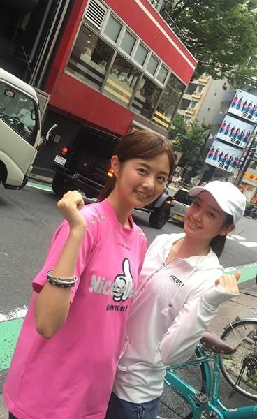 渋谷のスタジオでも、ランニングをスタート! 同じ事務所の、太田麻美さんも、ランニングに帯同する事もありました。