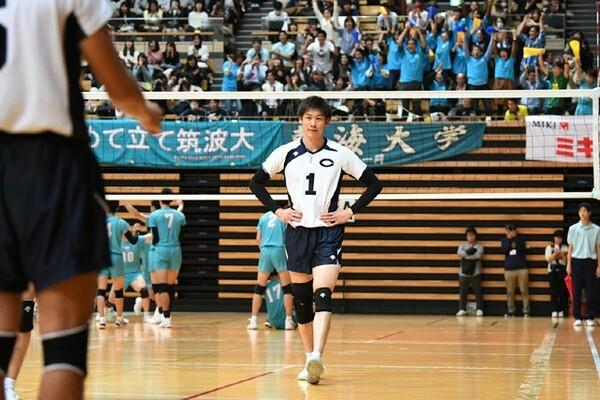 筑波大学戦は勝負どころで石川にトスが集まらず。悔しい敗戦となった