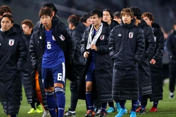 8試合の日韓戦を経験している今野(右から2番目)。「間違いなく苦労する相手」と韓国を警戒していた