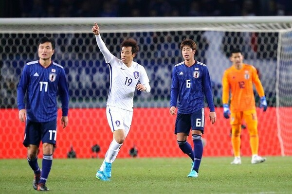 日本はPKで先制するも、その後は何もできず1−4の大敗を喫した