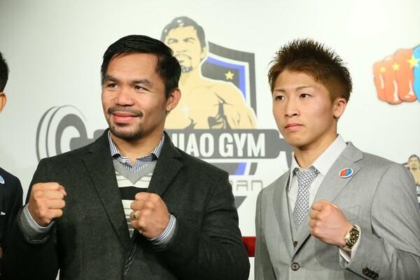 目指すところはボクシング界の伝説・パッキャオ(左)だ