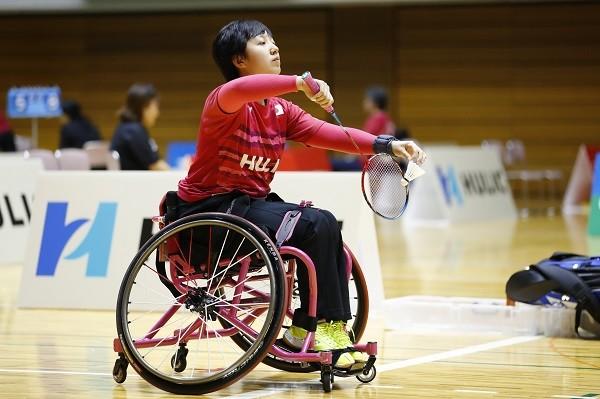 パラバドミントンの山崎悠麻。東京パラリンピックでメダルの期待がかかる