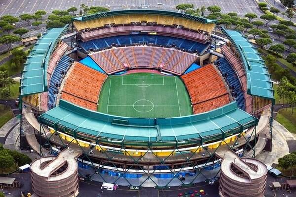 パシフィック・リムカップの会場となる、ハワイのアロハ・スタジアム