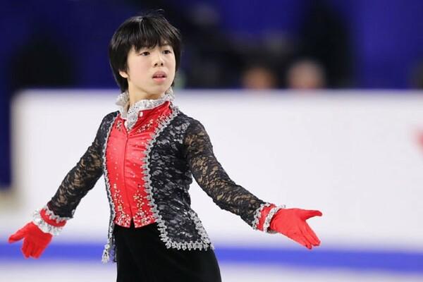 まだ14歳ながら、昨年末の全日本選手権に出場した佐藤駿。今後注目を集めそうな逸材だ