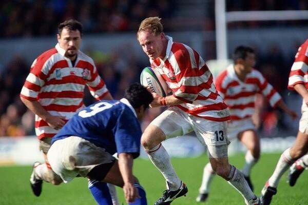 1999年のワールドカップ、サモア戦で突進するマコーミック