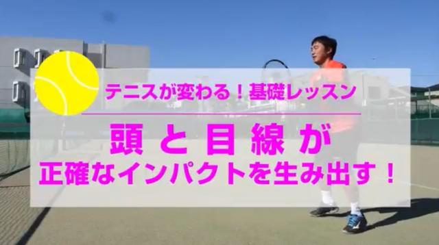 頭と目線が正確なインパクトを生み出す テニスが変わる基礎レッスン