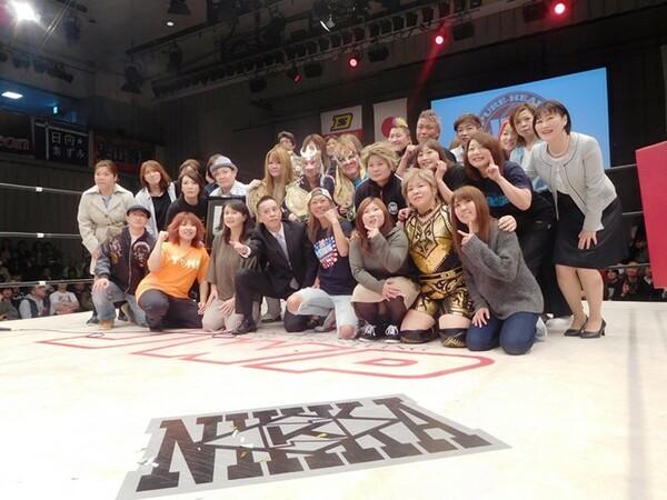 昨年4月2日の解散興行には、尾崎魔弓、ダイナマイト・関西らJWPのOGが集結した