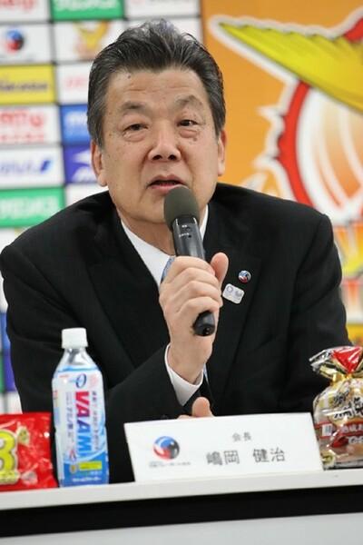 「今年は成績、結果にこだわってほしい」と語った嶋岡会長