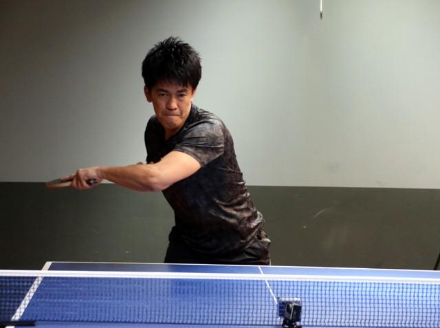 パラ卓球に挑戦した武井壮さん