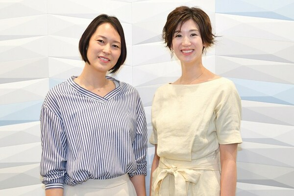 MBSの番組に出演した栗原恵(右)と大山加奈が取材に応じ、全日本時代の葛藤を明かした