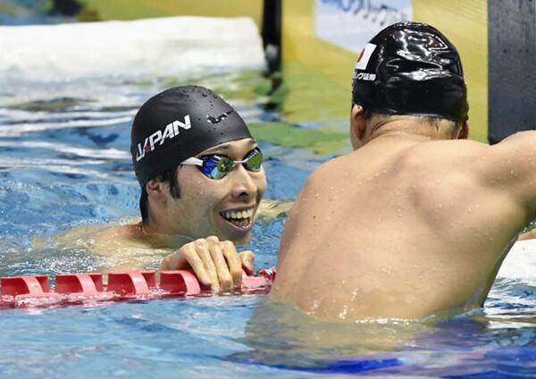 萩野は200メートル背泳ぎで優勝。専門外のレースで強さを見せた