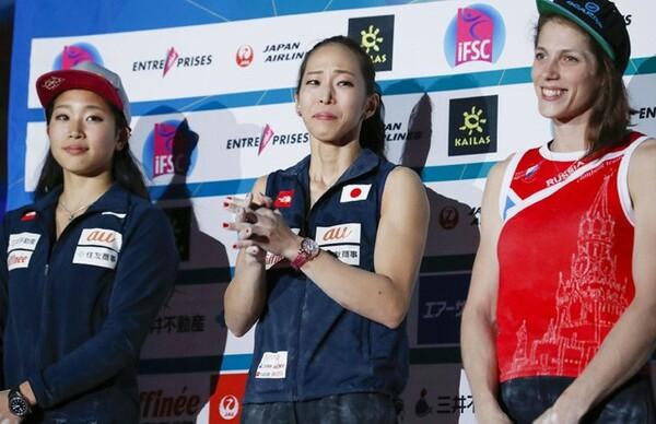 準優勝した野中生萌(左)や伊藤ふたばら、若手の台頭を感じながらも、第一線で活躍し続けている