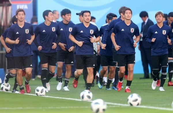 日本代表は決戦の地・サランスクで試合前日の公式練習を行った
